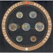 Турция Годовой набор монет 2014 с серебряным жетоном