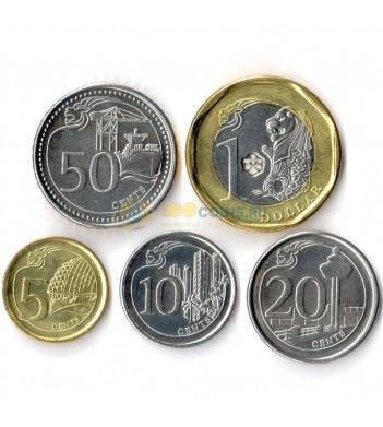 Сингапур 2013-2016 набор 5 монет