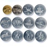 Северная Корея Набор 12 монет Животные Техника