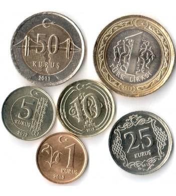 Турция 2009-2015 Набор 6 монет