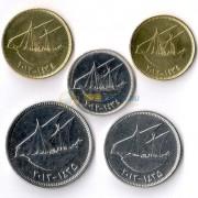 Кувейт 2011-2012 набор 5 монет Парусники