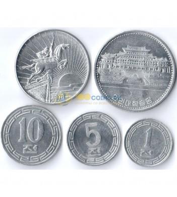 Северная Корея 1959-1987 Набор 5 монет