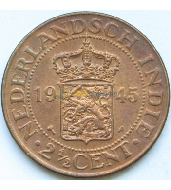 Индия Нидерландская 1945 2 1/2 цента