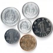 Китай 1987-2013 Набор 6 монет