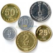 Мальдивские острова 2007-2012 набор 6 монет