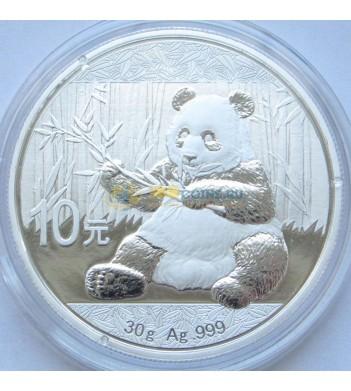 Китай 2017 10 юаней Панда серебро