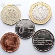 Иордания 2009-2012 набор 5 монет