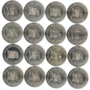 Турция 2015 1 куруш Набор 16 монет История государств Флаги