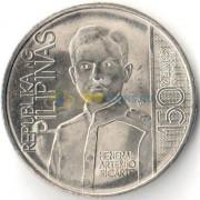 Филиппины 2016 1 песо Артемио Рикарте