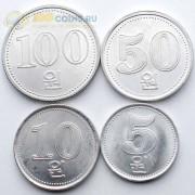 Северная Корея 2005 Набор 4 монеты