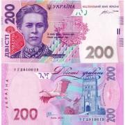 Украина бона 200 гривен 2014 Гонтарева