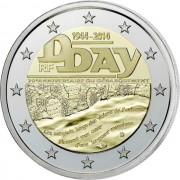 Франция 2014 2 евро 70 лет высадке в Нормандии