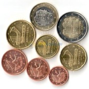 Андорра Набор 8 монет евро 2014 (1-50 центов, 1-2 евро)