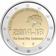 Бельгия 2014 2 евро Первая мировая война
