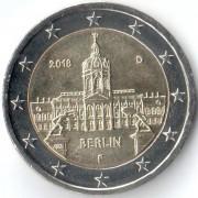 Германия 2018 2 евро Берлин F