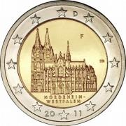 Германия 2011 2 евро Северный Рейн-Вестфалия A
