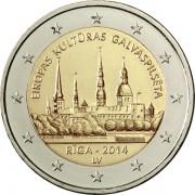 Латвия 2014 2 евро Рига культурная столица Европы