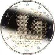Люксембург 2015 2 евро 15 лет престола Герцога Анри