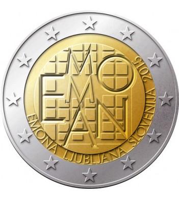 Словения 2015 2 евро 2000 лет Римское поселение Эмона