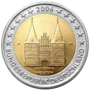 Германия 2006 2 евро Шлезвиг-Гольштейн D
