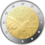 Франция 2015 2 евро 70 лет мира в Европе