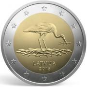 Латвия 2015 2 евро Черный аист
