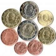 Бельгия Набор 8 монет евро 1999-2015 (1-50 центов, 1-2 евро)
