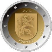 Латвия 2017 2 евро Курземе