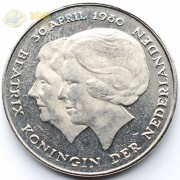Нидерланды 1980 1 гульден Коронация Беатрис
