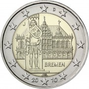Германия 2010 2 евро Бремен F