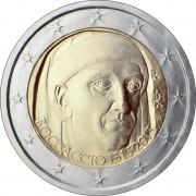 Италия 2013 2 евро Джованни Боккаччо