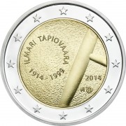 Финляндия 2014 2 евро 100 лет Илмари Тапиоваара