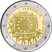 Словения 2015 2 евро 30 лет Флагу Европы ЕС