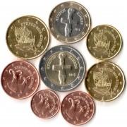 Кипр Набор 8 монет евро 2008 (1-50 центов, 1-2 евро)
