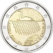 Финляндия 2015 2 евро 150 лет Аксели Галлен-Каллела