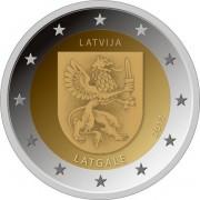 Латвия 2017 2 евро Латгале