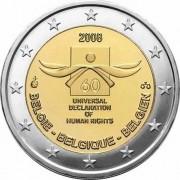 Бельгия 2008 2 евро 60 лет Декларации прав человека