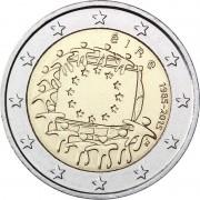 Ирландия 2015 2 евро 30 лет флагу Европейского союза