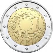 Финляндия 2015 2 евро 30 лет флагу Европейского союза
