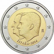 Испания 2014 2 евро Король Филипп VI