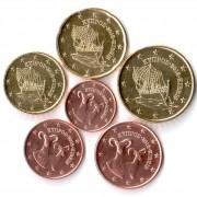 Кипр Набор 6 монет евро 2015 (1-50 центов)