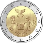 Мальта 2017 2 евро Мир