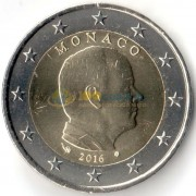 Монако 2016 2 евро Князь Альберт II
