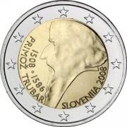 Словения 2008 2 евро Примож Трубар