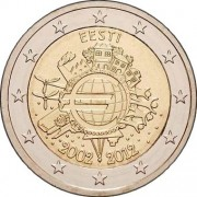 Эстония 2012 2 евро 10 лет Евро