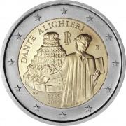 Италия 2015 2 евро Данте Алигьери