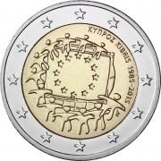 Кипр 2015 2 евро 30 лет флагу Европейского союза