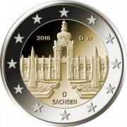 Германия 2016 2 евро Саксония А