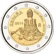 Испания 2014 2 евро Парк Гуэль Гауди