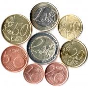 Австрия Набор 8 монет евро 1999-2015 (1-50 центов, 1-2 евро)